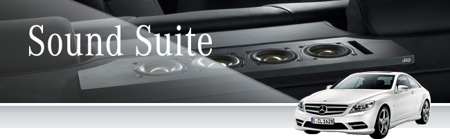 E-Class Sound Suite Optional sound system